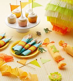 Make sweet party decorations and cake toppers from colorful crepe paper. Leftovers can be used to wrap #birthdaygifts!  http://www.parents.com/fun/birthdays/planning/crepe-paper-crazy/?socsrc=pmmpin130304bpCrepePaper