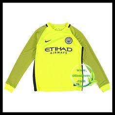 Fotballdrakter Manchester City Barn Langermet Keeper 2016-2017 Manchester City, Barn, Sweatshirts, Kids, Young Children, Converted Barn, Boys, Trainers, Children