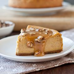 Pumpkin Ale Cheesecake with Beer Pecan Caramel Sauce. This has my husband's name written all over it! Making soon.