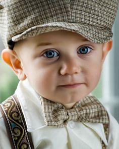 Cute Boy... Bow ties & Caps!