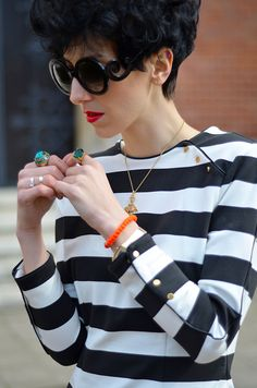 Love the Turquoise ring and orange bracelet together