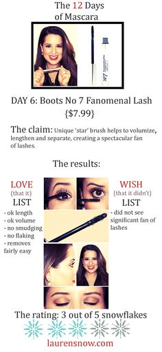 Day 6: Boots No 7 Fanomenal Lash Mascara. I wonder if Kate Middleton has ever worn this British brand? See how this one rated on day 6! #mascara #beauty # boots #beatmascara #laurensnow #thelovelyblog