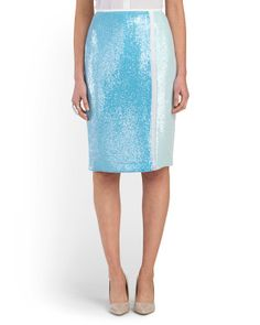 image of Silk Sequined Bea Skirt