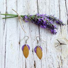 Orecchini Chicco Sole Ocra e Viola