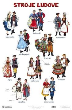 Folklore, Poland Costume, Folk Costume, Costumes, Polish Language, Visit Poland, Polish Folk Art, Folk Clothing, Family Roots