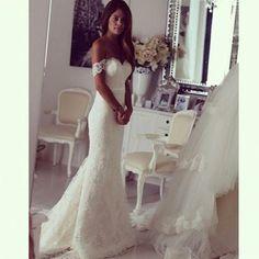 WD22 Off the shoulder Lace Wedding Dresses,Wedding Dress Custom Made Wedding Gown,