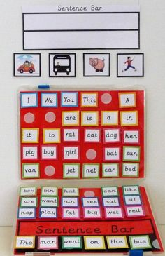 Offering teachers and educators of children a variety of multi-functional learning resources to help children develop the core subjects of maths & literacy. Eal Resources, Learning Resources, Autism Activities, Writing Activities, Kindergarten Writing, Colourful Semantics, Making Sentences, Early Years Classroom, Sentence Building