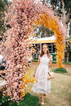 Sydne Style shows pretty dresses at Veuve Clicquot Polo Classic rose garden #dresses #florals @sydnesummer Bright Wedding Flowers, Floral Wedding, Veuve Cliquot, Bebe Shower, Flower Installation, Polo Classic, Floral Arch, Wedding Ceremony Decorations, Alternative Wedding