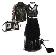 """""""#168: Channeling Nancy Downs"""" by s-b-r-n-a ❤ liked on Polyvore featuring Elie Saab, Giamba, Jonathan Simkhai, Jane Bowler, Alexander Wang, Charlotte Olympia, Olympia Le-Tan, leatherjacket, platforms and promdoover"""