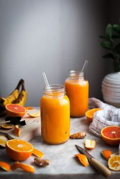 Pineapple Orange Banana Juice + Vanilla & Turmeric