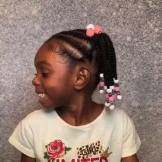 Little Girls Natural Hairstyles, Toddler Braided Hairstyles, Little Girl Braid Hairstyles, Little Girl Braids, Natural Hairstyles For Kids, Baby Girl Hairstyles, Braids For Kids, Children Braids, Little Girl Braid Styles