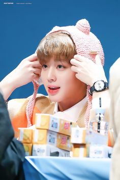 180111 Wanna One at Yohi Fansign #Jihoon