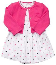 Amazon.com: Carter's 2-pc. Pink Polka Dot Dress Set: Baby