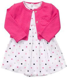 Amazon.com: Carter's 2-pc. Pink Polka Dot Dress Set: Baby