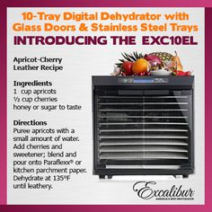 GET your 10 Tray Excalibur Dehydrator TODAY! Start planning for the next Superbowl Sunday Party! Order NOW!