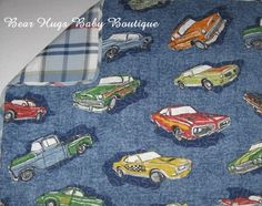 Vintage Cars Quilted Pillow Sham.