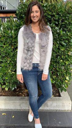 Foxy Faux Fur Vest Silver Grey | The Rock Box Store
