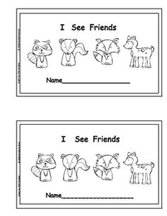I See Friends Emergent Reader and Pocket Chart Story