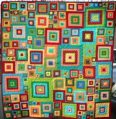Jewel Squares - love all the color... great color ideas for crochet