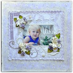 *Beautiful* A monochromatic lo in lilac for Papirdesign DT Baby Scrapbook, Scrapbooking Layouts, Lilac, Heaven, Paper, Frame, Beautiful, Scrapbook Layouts, Lilacs