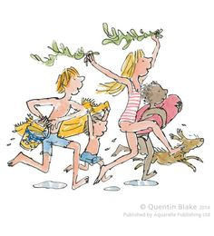 Down To The Sea Signed Art Print By Quentin Blake - Arthouse