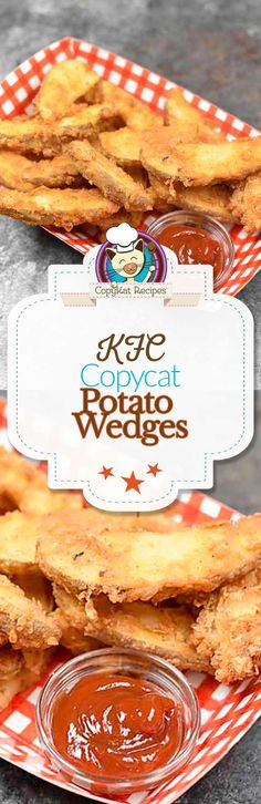 Recreate the KFC Potato Wedges at home with this easy copycat recipe.  These taste just like the famous KFC potato wedges.