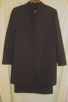 Blazer Mila Schon Vintage NOS 70s Bandage Dress Coat Jacket Suit Wool Minimalist
