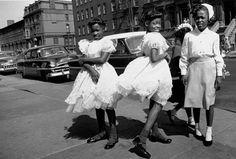 William KLEIN :: Four Girls, Easter Sunday, 1954-55