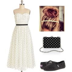 """""""Black and White Polka Dots"""" by nachognat on Polyvore"""