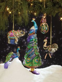 Stunning ornaments from Jay Strongwater.