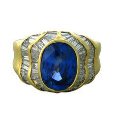 Damiani Diamond Gold Tanzanite Ring at 1stdibs