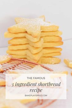 The famous 3 ingredient shortbread recipe is the easiest shortbread you'll ever make... all you need is butter, plain flour and icing sugar! #3ingredient #shortbread #recipe #thermomix #conventional #cookies #christmas Egg Free Recipes, My Recipes, Sweet Recipes, Cookie Recipes, Dessert Recipes, Favorite Recipes, Recipies, Xmas Food, Christmas Cooking