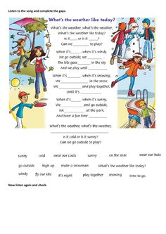 Weather Song, Worksheets, Friend 2, Microsoft, Kindergarten, Language, The Unit, Songs, City