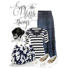 """""""Navy Casual"""" by modestly-chic on Polyvore"""