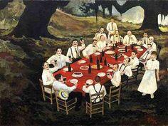 George Rodrigue Early Paintings   ... Art Museum, Lafayette, Louisiana 'A Toast to Cajun Food,' George