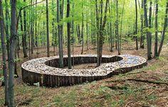 60 Trendy Ideas For Wood Art Installation Gardens Outdoor Sculpture, Outdoor Art, Outdoor Gardens, Garden Sculpture, Land Art, Landscape Architecture Design, Landscape Art, Pergola, Forest Art