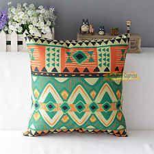 "Geometric Cotton Linen Pillow Case Cushion Cover Home Sofa Decorative Aquare 17""[3]"