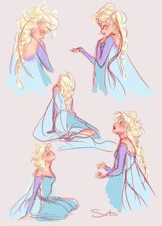 Doodleblog of Samantha Dodge • Elsa sketches just because :D