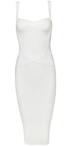 Callie White Bandage Dress
