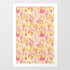 Collect your choice of gallery quality Giclée, or fine art prints custom trimmed by hand in a variety of sizes with a white border for framing. Orange Art, Art Deco Pattern, Buy Art, Fine Art Prints, Conservatory, Abstract, Gallery, Frame, Pink