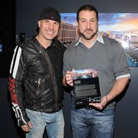 Peter Lik and Joey Fatone attending the Grand Opening of Lik Mandalay, the new gallery of master photographer Peter Lik on February 25, 2012.