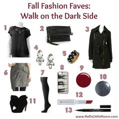 Fall Fashion Faves: Walk on the Dark Side | Hello Little Home