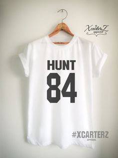 Hunt Shirt HUNT 84 T-Shirt Print on Front or Back side by XcarterZ