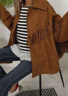 Bell Sleeves, Bell Sleeve Top, Fringe Jacket, Boho, Casual Outfits, Fall Winter, Spandex, Blazer, Denim