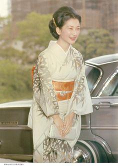 Crown Princess Michiko of Japan in May, 1965.