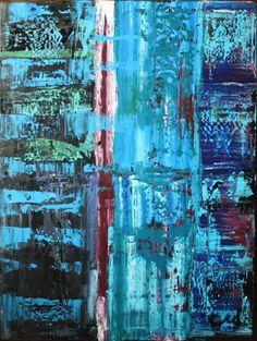 "Saatchi Art Artist: Cory McKee; Acrylic 2013 Painting ""Static Freeze"""