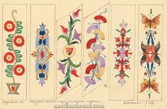 Free patterns for hand embroidery (some, like these, are Hungarian embroidery designs. Chain Stitch Embroidery, Learn Embroidery, Embroidery Patterns Free, Hand Embroidery Designs, Embroidery Stitches, Machine Embroidery, Modern Embroidery, Floral Embroidery, Embroidery Applique