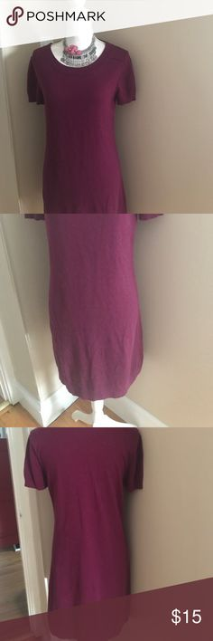 Banana Republic mohair blend dress Banana Republic mohair blend dress, just under 36 inches long. Armpit to armpit measurement is 18 1/2 inches. It is a lovely raspberry color.ell02 Banana Republic Dresses Midi