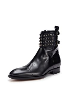 Leather Studded Boots by DSquared at Gilt