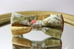 Unisex Bow Tie Map of the World in Pastel Colors by AsherTailored